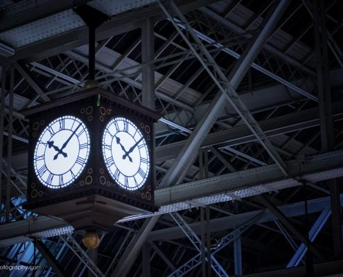 Clockface in Central Station Glasgow