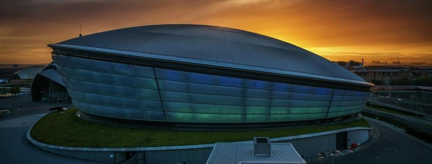 Glasgow Hydro at Sunset